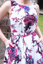 Load image into Gallery viewer, Doris Cream & Burgundy Floral Dress