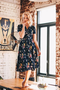 Harlow Navy Floral Dress