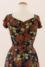 Load image into Gallery viewer, Tuscan Brown & Green Floral Dress