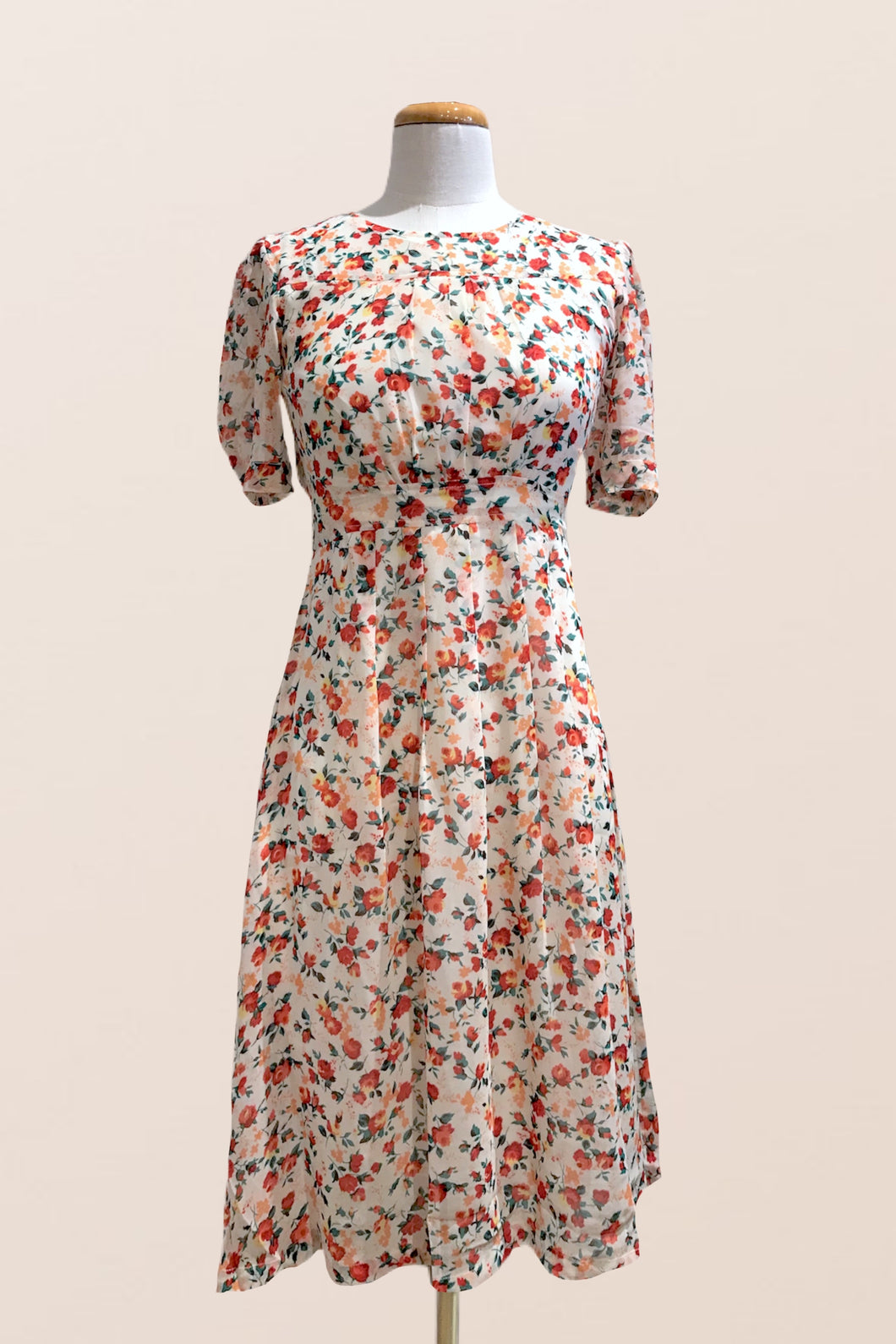 Chiffon Posie Dress Red Floral