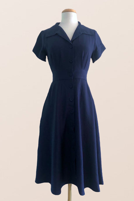 Loretta Navy Dress