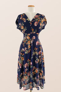 Dakota Navy / Orange Floral Dress