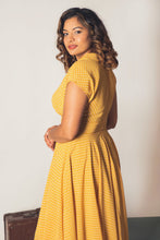 Load image into Gallery viewer, Posy Mustard & Cream Dots Dress