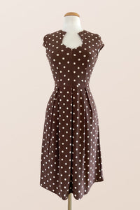 Elsbeth Brown Polka Dot Dress