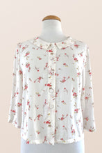 Load image into Gallery viewer, Perla Cream & French Roses Blouse
