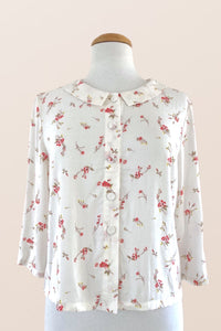Perla Cream & French Roses Blouse