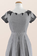 Load image into Gallery viewer, Laura Black & White Nautical Dress