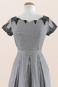 Laura Black & White Nautical Dress