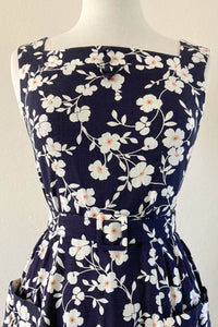 Bee Navy & White Floral Dress