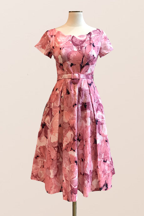 Laura Dusty Pink Floral Dress