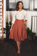 Load image into Gallery viewer, Roxy Rust Tussah Skirt