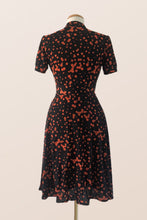 Load image into Gallery viewer, Verity Orange Polka Dot Dress