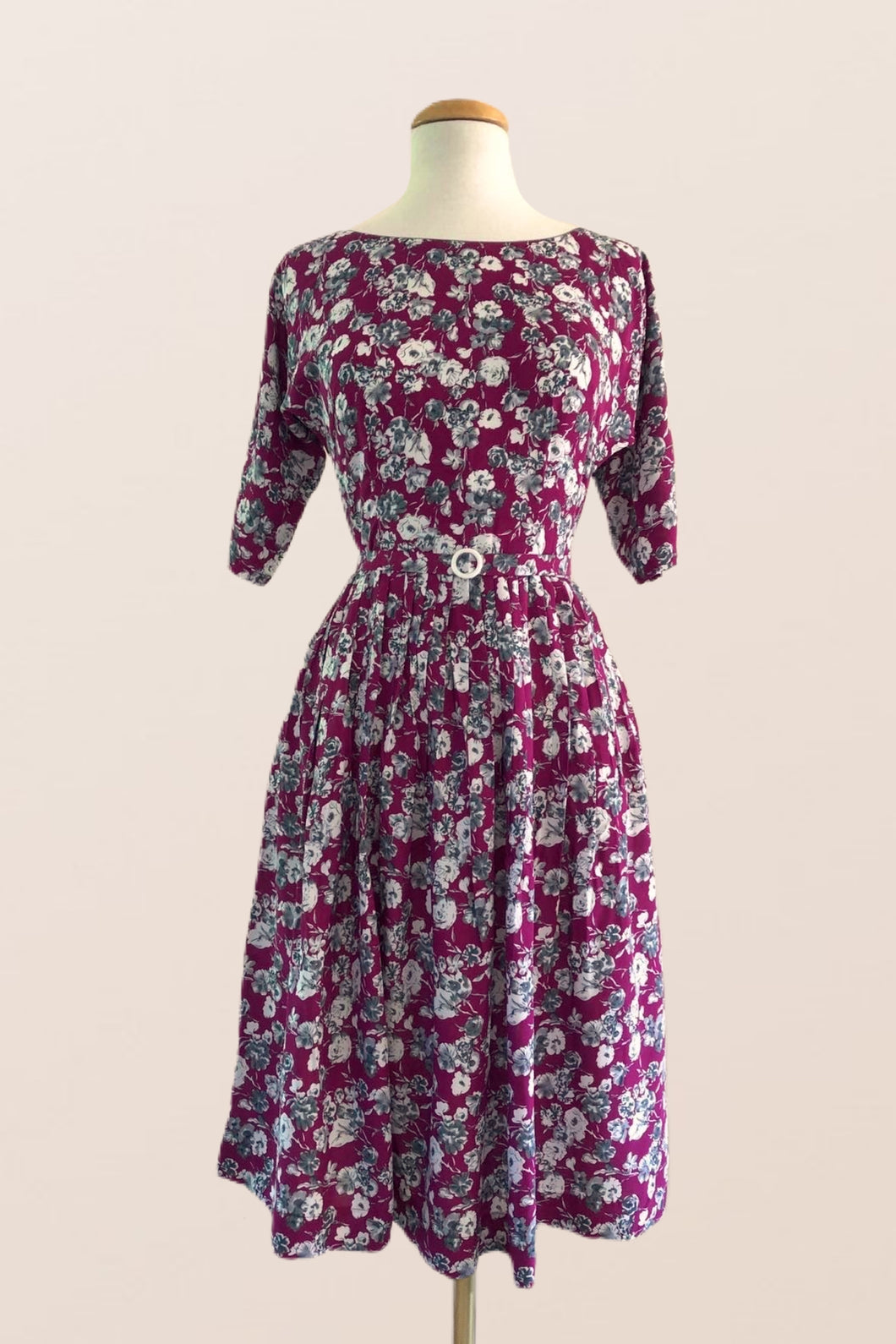 Clarissa Purple Floral Dress