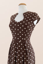 Load image into Gallery viewer, Elsbeth Brown Polka Dot Dress