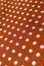Load image into Gallery viewer, Posy Orange & Cream Dots Dress
