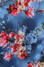 Load image into Gallery viewer, Myrtle Red & Cobalt Frangipani Dress