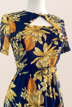 Load image into Gallery viewer, Ginger Navy & Mustard Dress