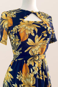 Ginger Navy & Mustard Dress