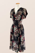 Load image into Gallery viewer, Sage Black Floral Dress