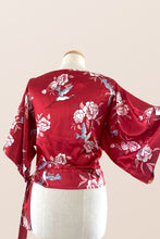 Load image into Gallery viewer, Kimono Crane Red Blouse
