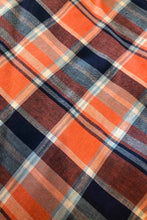 Load image into Gallery viewer, May Navy & Orange Checker Dress