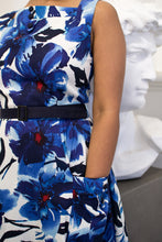Load image into Gallery viewer, Bee Blue & Red Floral Dress