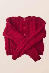 Red Crop Cardigan