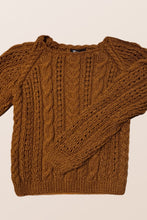 Load image into Gallery viewer, Camel Knitted Jumper