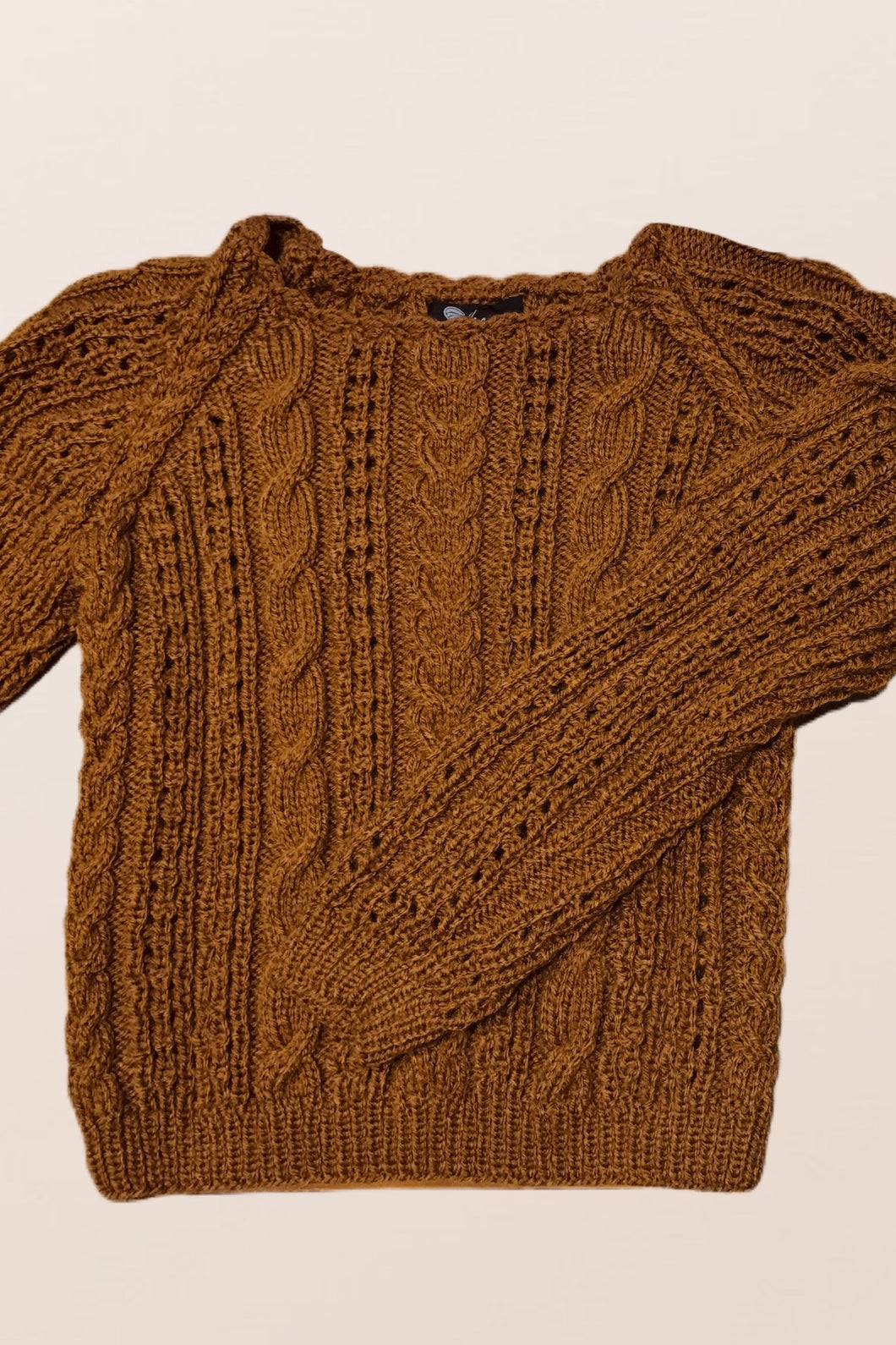 Camel Knitted Jumper