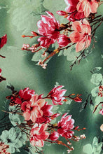 Load image into Gallery viewer, Myrtle Red & Green Frangipani Dress