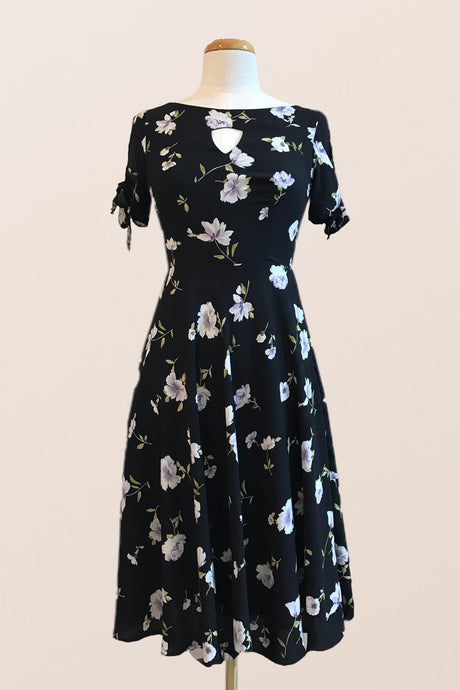 Betsy Black Floral Dress