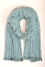 Load image into Gallery viewer, Teal Fringe Scarf