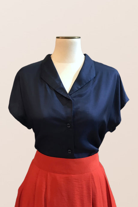 Fabulous Navy Blouse