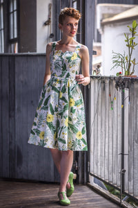 Jade Mustard & Green Floral Dress
