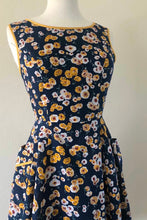 Load image into Gallery viewer, Josette Navy & Mustard Dress