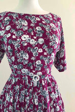 Load image into Gallery viewer, Clarissa Purple Floral Dress
