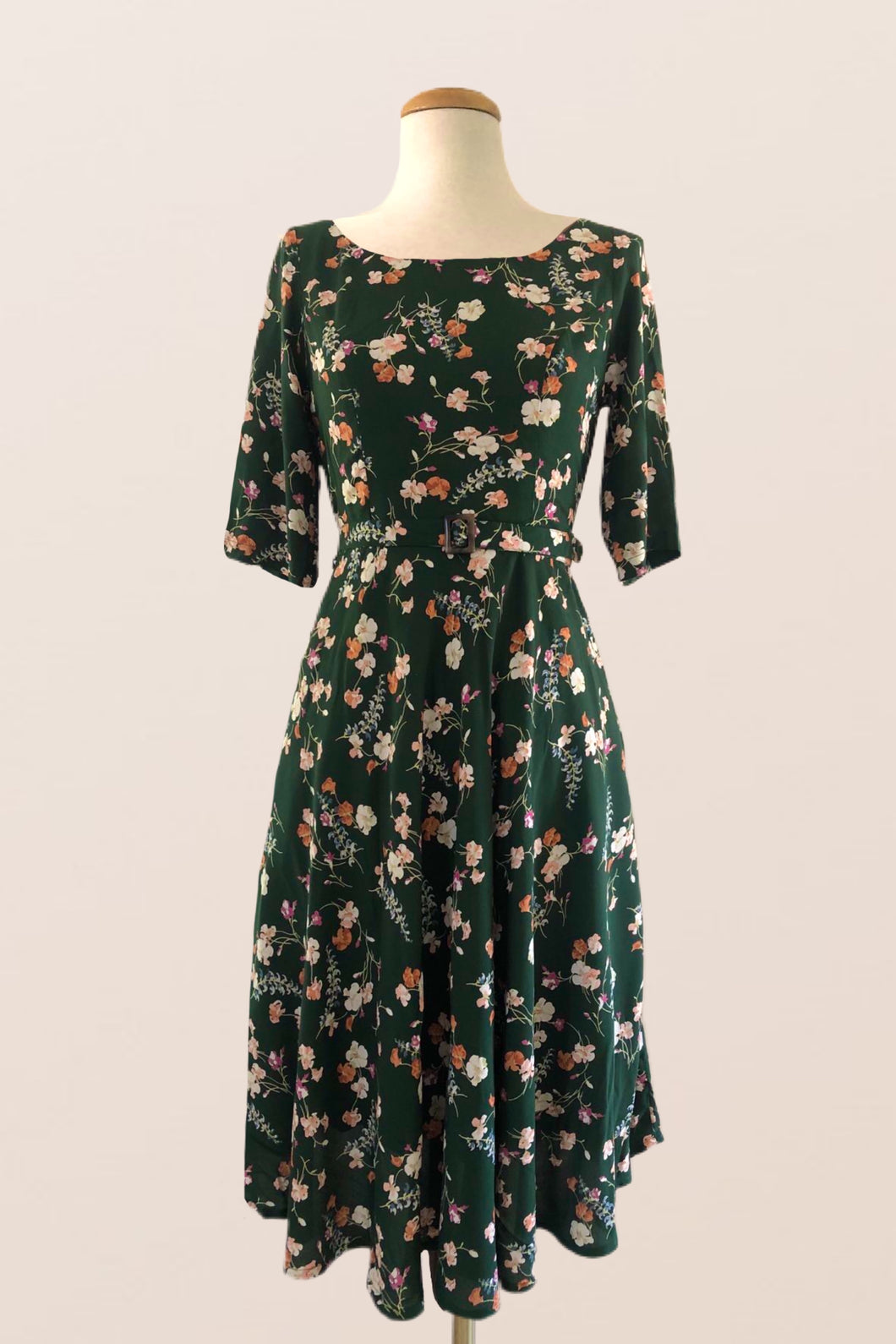Anderson Green Floral Dress