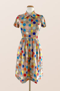 Spring Polka Shirt Dress