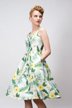 Load image into Gallery viewer, Jade Mustard & Green Floral Dress