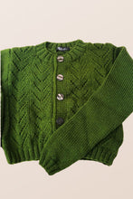Load image into Gallery viewer, Green Crop Cardigan