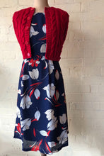 Load image into Gallery viewer, Anderson Navy & Red Floral Dress