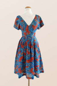 Gisele Blue & Coral Dress