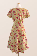 Load image into Gallery viewer, Carla Mustard & Red Floral Dress