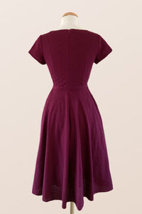 Juliet Cross Collar Burgundy Dress