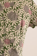 Load image into Gallery viewer, Carla Green & Dusty Pink Floral Dress