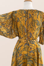 Load image into Gallery viewer, Luna Mustard Floral Dress