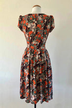Load image into Gallery viewer, Orange Floral Jersey Dress