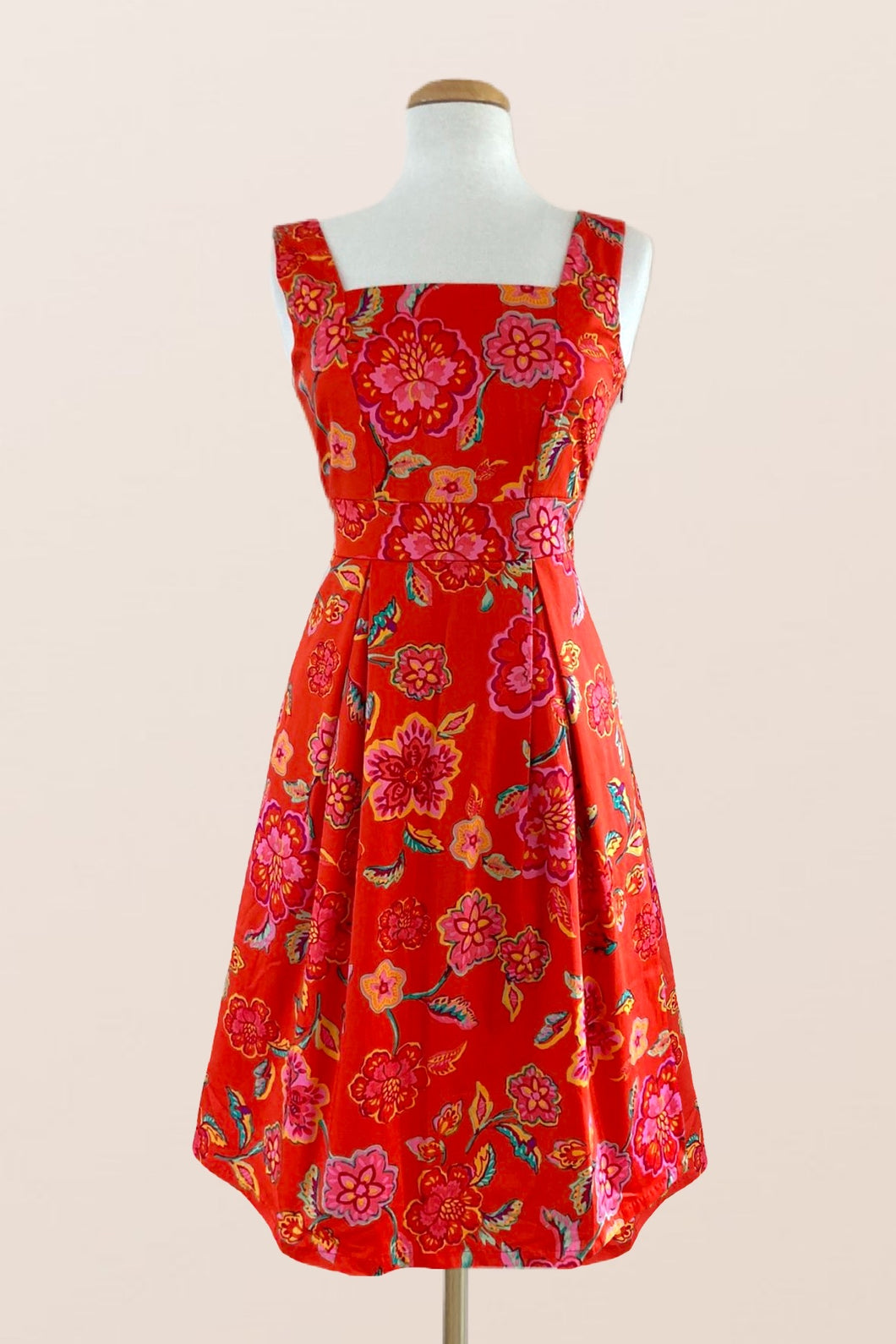 Orange Floral Day Dress