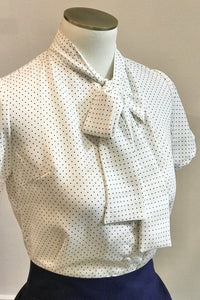 Stacy Black and White Polka Dot Shirt