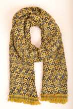 Load image into Gallery viewer, Yellow Fringe Scarf